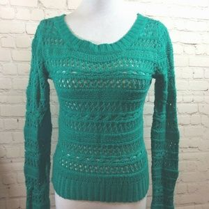 Delias Open Knit Sweater Womens Size Small